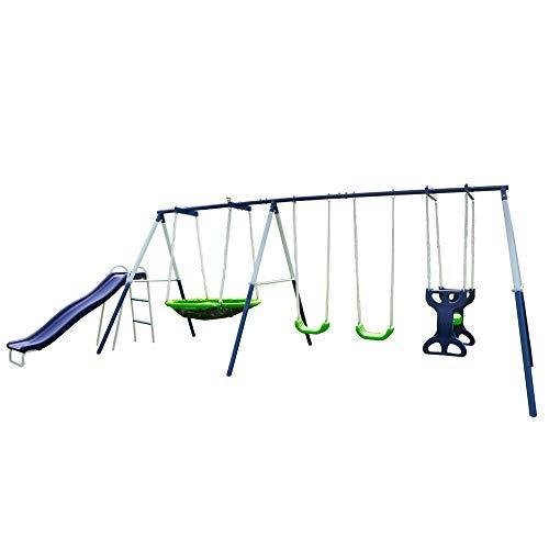 Sportspower Rosemead Metal Swing and Slide Set