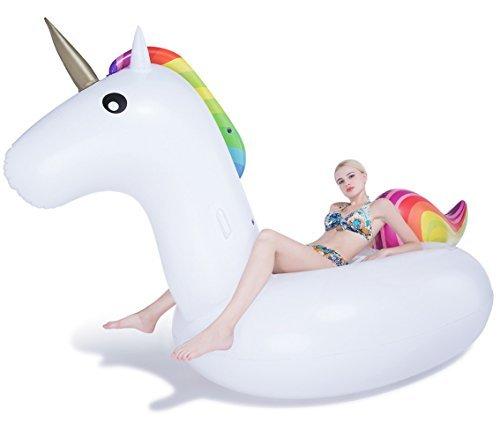 Jasonwell Giant Inflatable Unicorn Pool Float 1082 x 55 x 47-Inch by Jasonwell