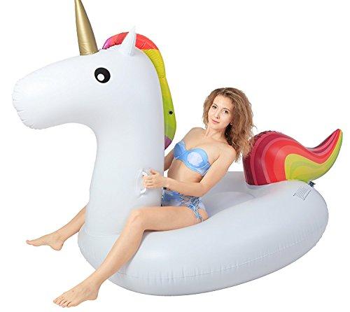 Tuk789 Balloon Pool Party Giant Inflatable Unicorn Pool Float