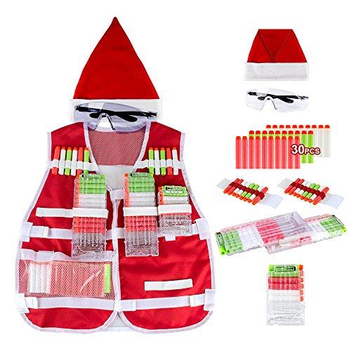 Little Valentine Santa Claus Tactical Vest Kit Christmas Limited Edition for Nerf Guns N-Strike Elite Series