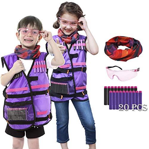 UWANTME Kids Tactical Vest Kit for Nerf Rebelle Series Blaster
