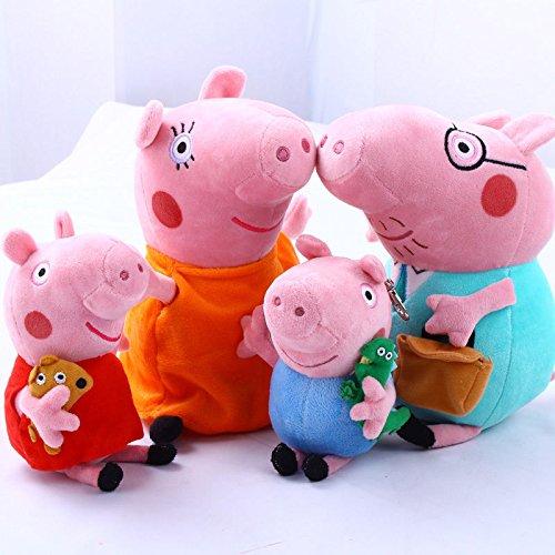 4Pcs Peppa Pig Family Plush Doll Stuffed Toy 12 DADDY MOMMY 8 PEPPA GEORGE - BundleBulk Buy
