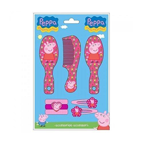 Peppa Pig 8-Piece Hair Accessories Set Toy