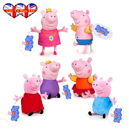 Peppa Pig Plush Toy 6 CharactersoriginalDaddyMummyPeppaGeorge Pig Set of Six All Characters