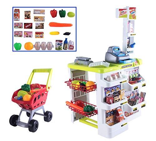 deAO Kids Role Play Supermarket Set Superstore Shop Toys Children Supermarket
