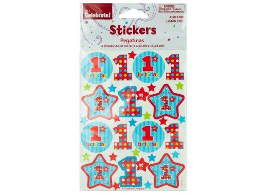 bulk buys 4-Sheet 1st Birthday Stickers