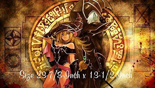 14 - Yu-gi-oh Dark Magician Girl PLAYMAT Yu-gi-oh Dark Magician Dark Magician Girl Play mat  Custom Play mat  Size 23-78-Inch x 13-12-Inch AArt