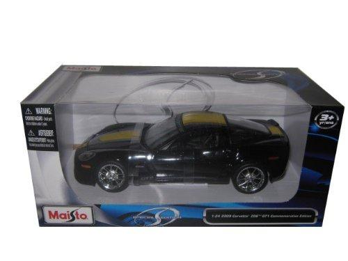 2009 Chevrolet Corvette C6 Z06 GT1 Commemorative Edition 124 Black by Maisto Tech