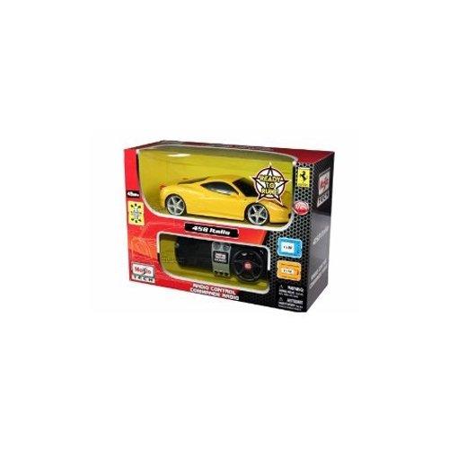 Maisto Tech 124 Scale Street Ferrari 458 Italia Yellow Remote Control Vehicle