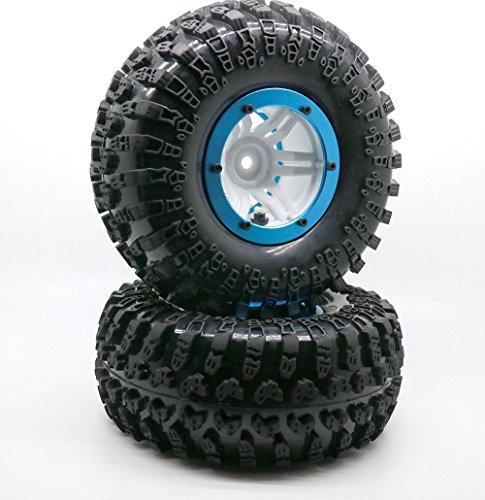 4PCS 22 Inflatable Tires W Alloy Beadlock Wheels 110 RC Crawler CAR 3021BU