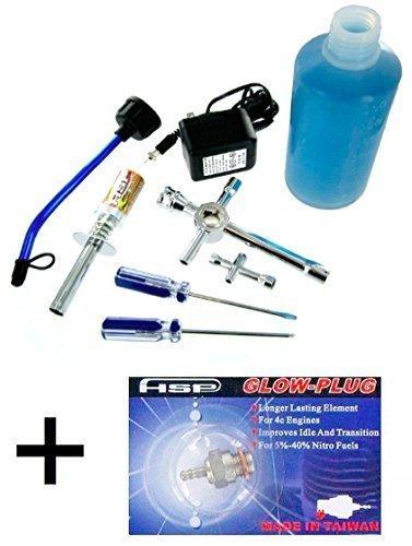 Redcat Racing Nitro Kit Combo - 80142A Nitro RC Starter Kit 70117m Medium Glow Plug