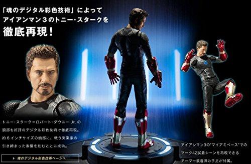 Bandai SHFiguarts Tony Stark Iron Man 3 Avengers Action Figure  First bonus  Stand Tony s powered stage