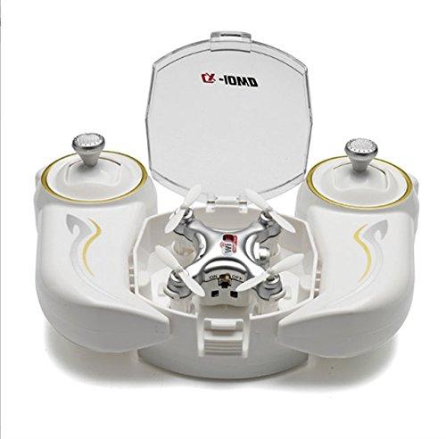 Realacc CX-10WD-TX 24G Remote Control 4CH 6-Axis Nano Wifi FPV Mini Quadcopter Drone with HD Camera Grey
