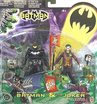 Batman Battle Armor Batman Quick Fire Joker Action Figure 2-Pack by Mattel Toys