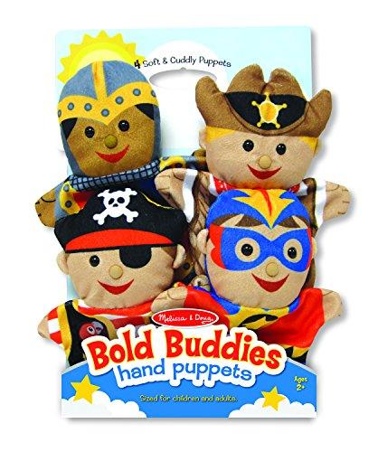 Melissa Doug Bold Buddies Hand Puppets Set of 4 - Knight Pirate Sheriff and Superhero