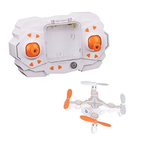 Dwi Dowellin RC Mini Drone Small Quadcopter Pocket Drone Outdoor Toy 901 Orange