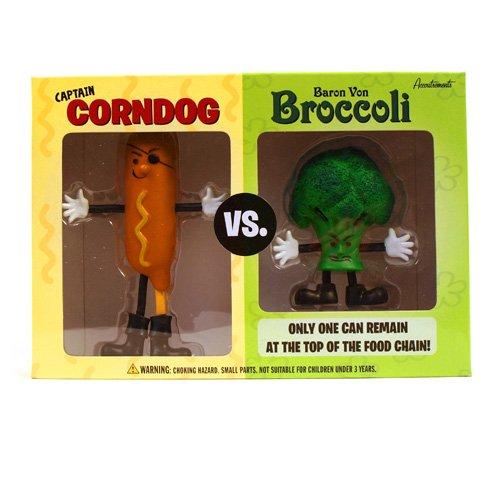 Captain Corndog vs Baron Von Broccoli Action Figure Playset