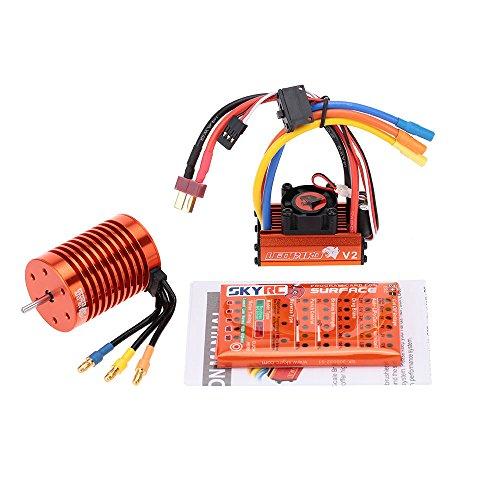 Goolsky SKYRC 13T 3000KV Brushless Motor 60A Brushless ESC with 5V2A BEC Linear Mode Program Card Combo Set for 110 RC Car