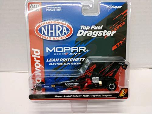 Auto World SC344-3 NHRA Top Fuel Dragster Mopar Leah Prichett Dragster HO Scale Electric Slot Car