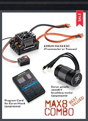 38010400 Max8 ESC Combo with EzRun 2200kV Motor T-Plug