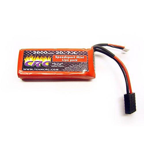 Mini Speedsport 74V 2600mAh 20C 2S LiPo Battery Hardcase TRA