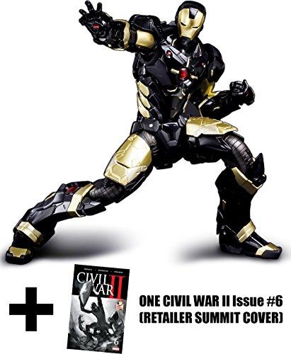 Iron Man Marvel Now Black X Gold Ver ~7 Sen-Ti-Nel REEDIT x Marvel Universe Action Figure  1 FREE Civil War II 6 Retailer Summit Cover Bundle