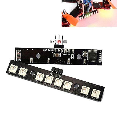 Crazepony Matek 2PCS MCU CF Dual Mode RGB RC LED Light Board Strip Taillight 7 Colors 4 Status for FPV Multicopter