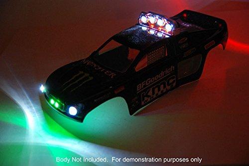 Traxxas Rustler Custom Deluxe RC LED light set for VXL VL 10