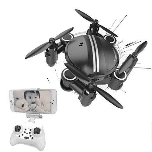 Alonea Mini RC Quadcopter 24GHz 4CH 6-Axis Gyro 3D UFO Drone FPV WIFI Nano Camera Black