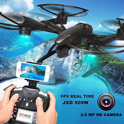 Lucoo JXD 509W 24G 6-axis 4CH HD Camera WiFi FPV Gyro RC Quadcopter Altitude Hold