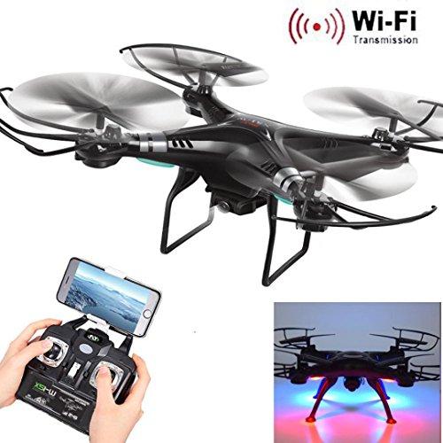 Lucoo X5SW-1 Wifi FPV RTF 24G 4CH RC Black quadcopter Camera Drone with HD Camera UAV