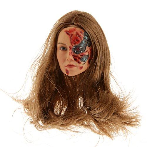 16 Scale Terminator Battle Damaged Female Head fit 12 inch Phicen Kumik Action Figure Body