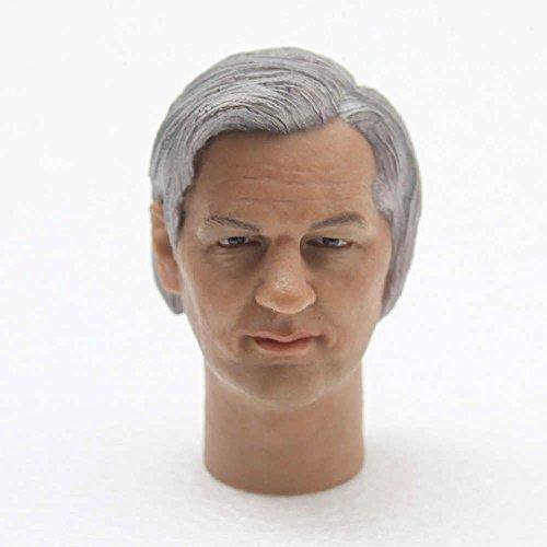 Hot 16 Scal Julian Paul Assange Head Sculpt Play Toys for 12 Action Figures Body