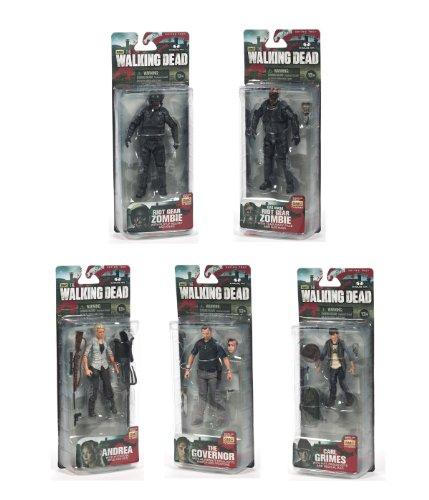 Walking Dead TV Series 4 Set of 5 Action Figures