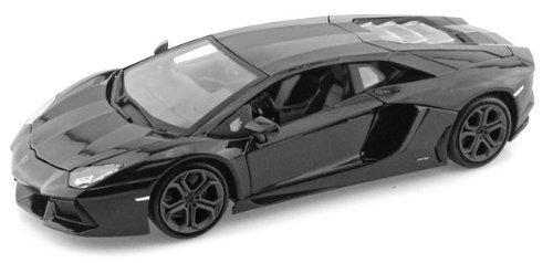 Lamborghini Matt Black Aventador LP 700-4 138 5 Pull Back Diecast Car