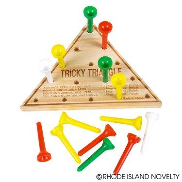 Wooden Triangle Game 1 dozen unit