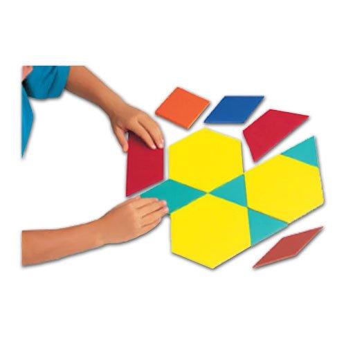 EAI Education Jumbo QuietShape Foam Pattern Blocks - Set of 49
