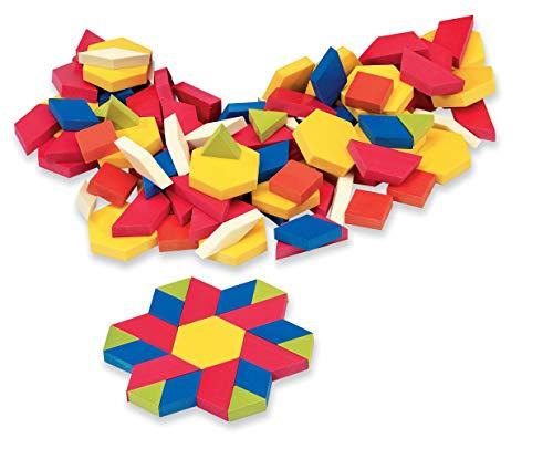 ETA hand2mind Plastic Pattern Blocks Set of 250