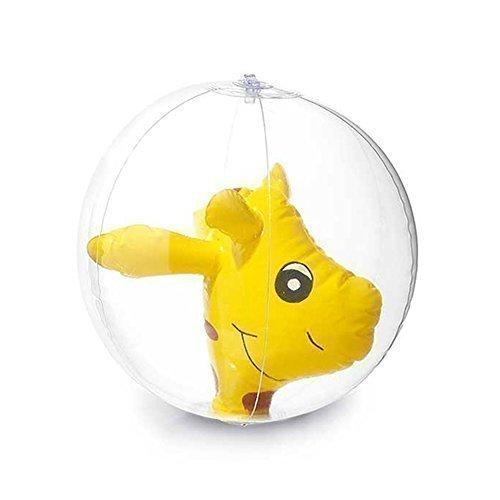 Inflatable Fun Novelty Animal Beach Ball for Holidays Swimming Pools - Gardens Kids Toy Yellow Giraffe