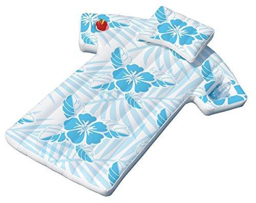 Swimline 90604 Inflatable Fun Swimming Pool Hawaiian Cabana Shirt Float Lounger by B&FShop