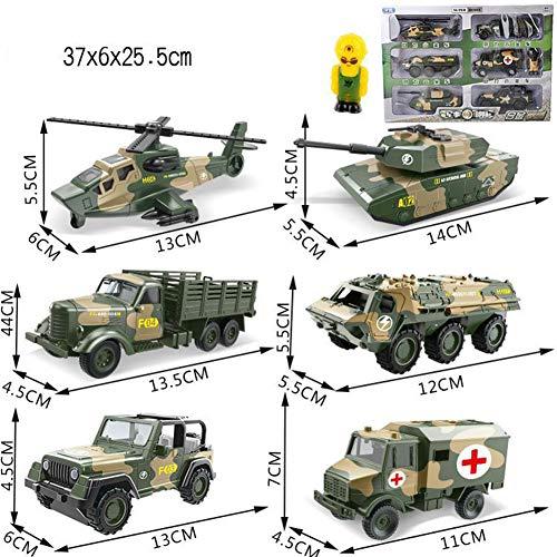 OUYAWEI 6 in 1 Kids Mini Metal Car Toys Vehicle Sets Educational Toys Engineering Vehicle ModelAlloy Military car Set