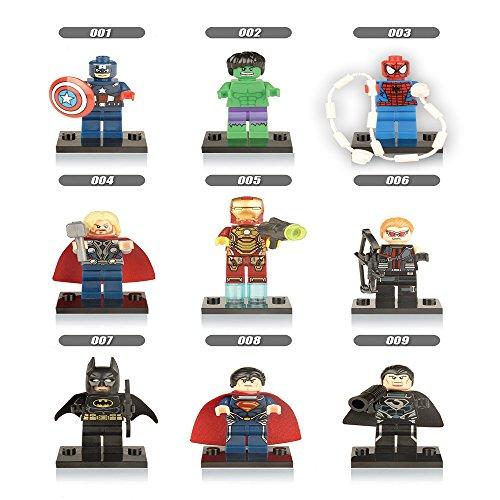 KCHKUI 8Pcs Custom Minifigures Building Blocks Set Educational Toys Figures Toys Including Super HeroesSpiderman The Avengers Iron Man