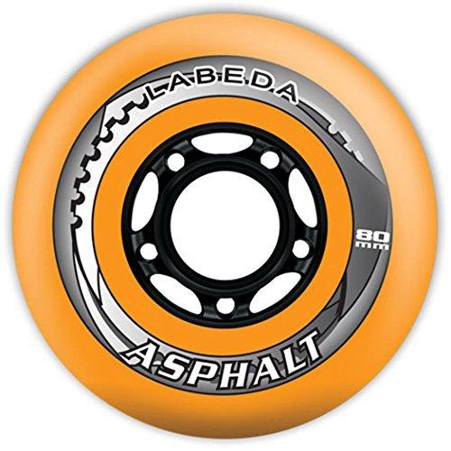 Labeda Asphalt Wheels 4 Pack Color Orange-Black Size 68mm Model DECK