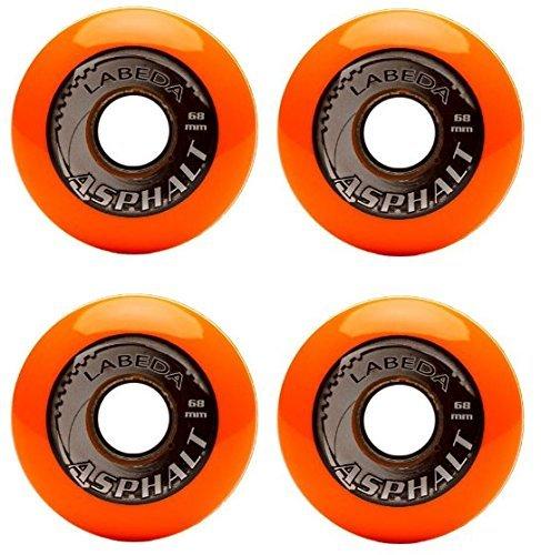 Labeda Asphalt Wheels 4 Pack Size 59mm Color Orange Model DECK Toys Play