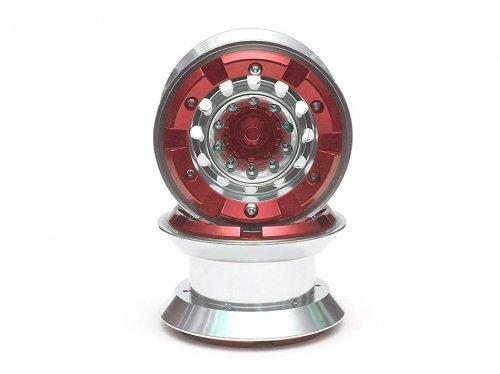 Boom Racing BRW770109R Hercules⢠22 High Mass Beadlock Aluminum Wheels Type D 2pcs Red