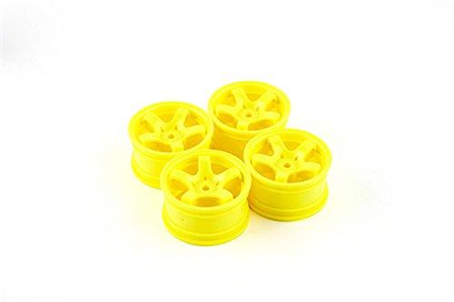 HobbyKing Sweep Mini 5 Spoke Wheel Type A - Yellow 4pcs  Hex size 12mm