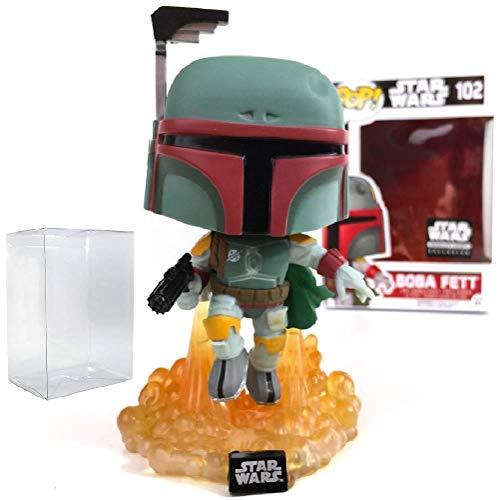 Star Wars Smugglers Bounty - Boba Fett Funko Pop Vinyl Bobble-Head Figure Includes Compatible Pop Box Protector Case