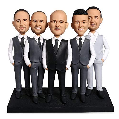 5 Best Man Custom Bobblehead 2 Head Connection Personalized Gift Creative Gift Boyfriend Gift Friend G