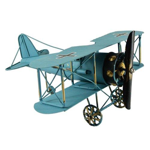 Blue 12 Vintage German Fokker Dvii WWI Fighter Jet Aircarft Model Prop