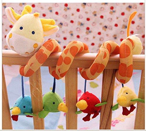 AQUREÂ Giraffe Baby Crib Activity Spiral Stroller Toy  from Crystalcity-6662